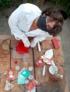olio pigmenti viola di massimo