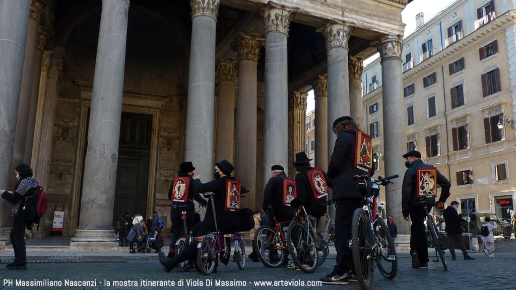 Pantheon - la mostra itinerante -  l'arte al tempo del covid - viola di massimo
